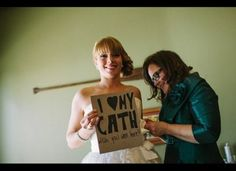 Have a loved one who can't make it to your wedding? Show that you're still thinking of her on your big day by taking a photo with a message and live-streaming it online where they can watch! Use http://ourphotoopp.com to stream.