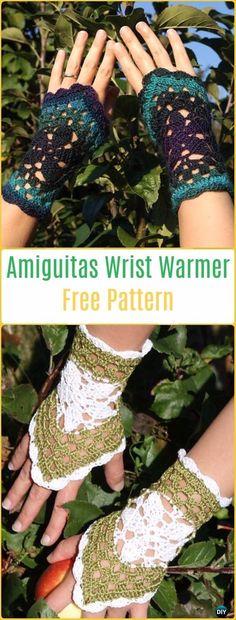Michelle Crochet Passion: Crochet Amiguitas Hand Cuff Wrist Warmer Free Patt...