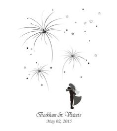 2016 Firework Prints Fingerprint Wedding Tree Guest Bookde Wedding Thumbprint Tree Guestbook Check In Figure Wedding Decoration Unique Vintage From Wewedding, $22.53 | Dhgate.Com