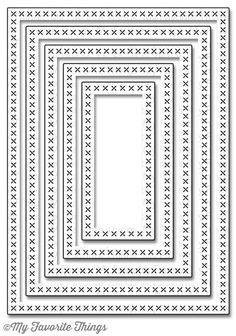 My Favorite Things CROSS STITCH RECTANGLE STAX Die-Namics MFT652 zoom image