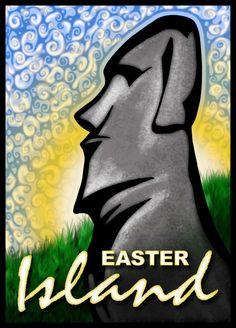 Moai - Easter Island 3 by inspired-imaging on DeviantArt Easter Island Moai, Digital Illustration, Deviantart, Graphic Design, Inspired, Inspiration, Image, Biblical Inspiration, Inspirational