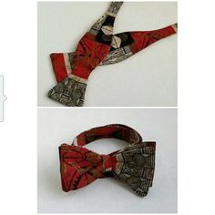 African Print Bow Tie This is an adjustable self tie bow tie.  Adjust up to 18 inch neck size.  Completely handmade. New without tags Accessories