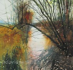 David Parfitt, Landscape painter based in the West Country UK. Acrylic, Oil and Watercolour paintings. Easy Watercolor, Watercolor Artwork, Watercolor Landscape, Abstract Landscape, Landscape Paintings, Abstract Art, Contemporary Landscape, Painting Inspiration, Watercolor Techniques