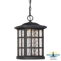 View the Quoizel SNNL1909 Stonington 1 Light LED Lantern Outdoor Pendant with Glass Shade at LightingDirect.com.