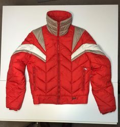 VTG Mountain Goat by White Stag Sz M Red DOWN Unisex Ski Coat Snow Board  Jacket 5e67fd4be