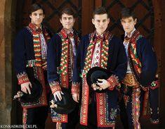 FolkCostume&Embroidery: Folk Costume of the Lachy, part 1, Overview and Podegrodzie men. Malopolska, Poland Folk Festival, Festival Dress, Polish Folk Art, Tribal Dance, Folk Clothing, Folk Costume, My Heritage, Dance Costumes, Traditional Outfits