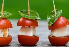 New Year's Eve Appetizer: Mini Caprese Bites