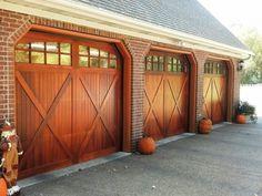 Wooden Garage Door - Home and Garden Design Idea's