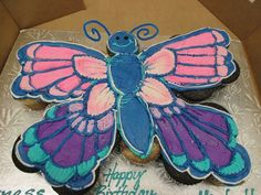 Butterfly Cupcakes | Cupcake Pull Apart Cakes Lancaster | Oregon Dairy Bake Shoppe