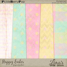 Lara´s Digi World - Digital Scrapbooking Designs: Freebie Happy Easter Papers Digital Scrapbooking Freebies, Happy Easter, Paper, Happy Easter Day