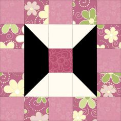 Emma-Pink-a-Doodle Quilt Block Patchwork Patterns, Quilt Block Patterns, Pattern Blocks, Quilt Blocks, Quilting Tips, Quilting Projects, Quilting Designs, Spool Quilt, Mug Rug Tutorial