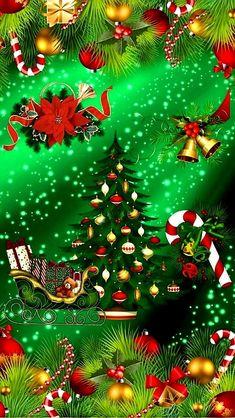 Merry Christmas Wallpaper, Merry Christmas Pictures, Holiday Wallpaper, Christmas Bells, Christmas Art, All Things Christmas, Christmas Themes, White Christmas, Christmas Lights
