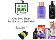 Snapdeal The Daily Needs Store : Get 10% off + Additional Cashback on Daily Needs Store