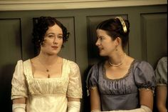 'He could only remember Miss Elizabeth and her friend Charlotte Lucas being in his vicinity, had thought himself safe from being overheard due to the volume of the music.' This pic - Jennifer Ehle and Lucy Scott as Elizabeth Bennet and Charlotte Lucas Elizabeth Bennett, Miss Elizabeth, Colin Firth, Jennifer Ehle, Bbc, Mr Darcy, Classic Literature, Pride And Prejudice, Jane Austen