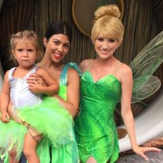 "Magical Memories from Kourtney Kardashian's Family Album  ""I bet you didn't know there were three tinkerbells. #disneyland"" —Kourtney Kardashian"