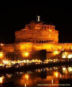 Castel Sant 'Angelo (Mauzoleum Hadriana), Parco Adriano, Rzym, Włochy - www.castlesandmanorhouses.com