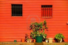 Someday I'll have a house or a barn or at the very least a fence painted orange!