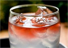 Guadalajara Sour (blanco tequila, lemon juice, simple syrup, rosé). Photo: Andrew Scrivani for The New York Times