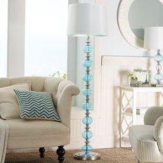 b885950b43 Aqua Glass Floor Lamp Blue Floor Lamps