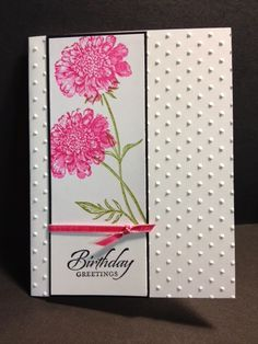 A Field Flowers Birthday Birthday Card Stampin' Up! Rubber Stamping Handmade Cards Stamp A Stack Two step stamping