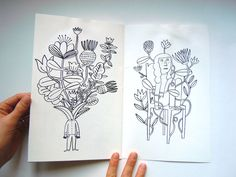 Dessins fleuris : Laurent Moreau