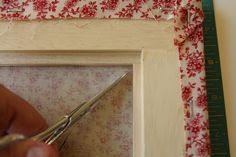Tutorial for covering picture frames with fabric