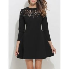 41.38$  Watch here - http://dixts.justgood.pw/go.php?t=203320402 - Openwork Fit and Flare Dress