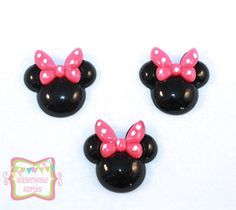 1+Pink+Bow+Mouse+Resin+Flatback+3+Pieces+S301+by+SnickerdoodleDIY,+$2.25
