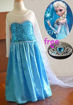 Frozen Girl Elsa Dress Costume by DLbaby9 on Etsy, $39.99 Girl Costumes, Halloween Costumes, Elsa Cosplay, Frozen Elsa Dress, Queen Elsa, Girls Dresses, Formal Dresses, Dress Up, Cape Dress