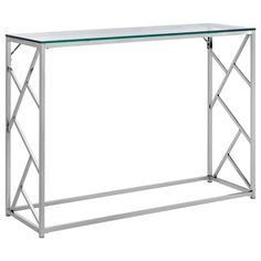 99 side table with tempered glass top and chrome legs for Meuble bouclair