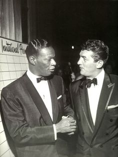 Nat King Cole and Dean Martin, 1950s.