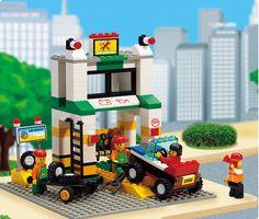 Sluban City Series Simulation City Car Repair Station Construction Plastic Model Building Block Bricks Set Compatible With legoe //Price: $US $21.99 & FREE Shipping //     #clknetwork