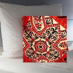 embroidered pillow world