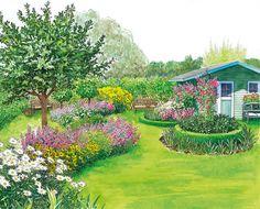 geschickte planung f r einen neuen garten gardens. Black Bedroom Furniture Sets. Home Design Ideas