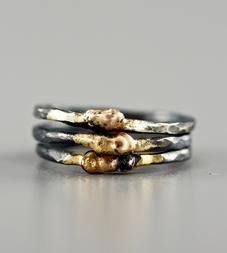 Small Hot Lava Mixed Metal Stacking Ring SCOUTMOB