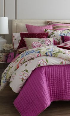 Inject colour into the bedroom with a vibrant bedspread. #hotlooks