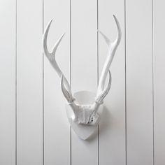 White Resin Deer Antlers