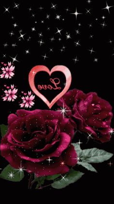 To my dear Joe♡♡♡, Love you♡, Flowers Gif, Love Flowers, Beautiful Flowers, Heart Pictures, Gif Pictures, Hearts And Roses, Red Roses, Animated Heart, Heart Gif