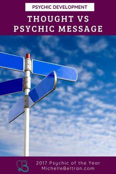 Intuitive and psychic messages are different than a thought. As your ability grows, you will be able to tell the difference between the two. Psychic Test, Psychic Abilities Test, Remote Viewing, Psychic Development, Psychic Mediums, Psychic Readings, Spirit Guides, Listening To You, Third Eye