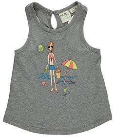 Roxy Girls Seashell Seashore Tank Heritage Heather 1218 Months -- You can find out more details at the link of the image.