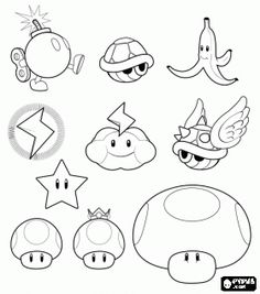 Video Game Super Mario Bros Different Elements Of The Coloring Page