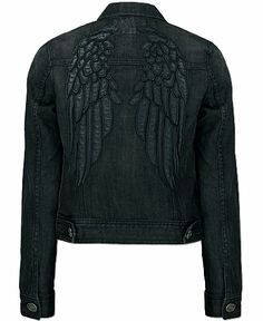 Sinful Dare Denim Jacket - love the angel wings on the back