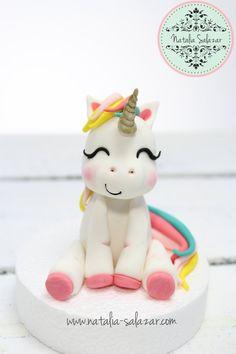 Unicorn cake topper  100% handmade rainbow unicor birthday cake party Rainbow Birthday, Unicorn Birthday Parties, Rice Krispies, Birthday Desserts, Birthday Cake, Cake Party, Unicorn Cake Topper, Fondant Figures, Rainbow Unicorn