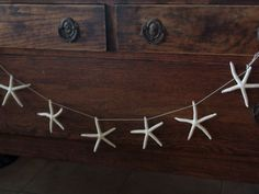 Natural White Finger Starfish Garland for Coastal Christmas Decorating/ Starfish on a String Garland @SeaShellsbySeaShore LovingCoastalLiving