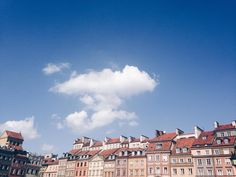 Clouds over Warsaw the city where I spent the most carefree times of high school with the love of my life holding my hand reading books on park benches signing in a choir and living in the Old Town a few hundreds meters from the church where we married each other 6 years later. Ah memories. Life feels good right now. Instagram inspiration