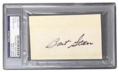 Bart Starr Green Bay Packers Signed Slabbed Index Card PSA 84075637