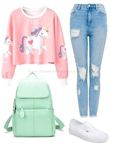 PRODUCT DETAILS - Long sleeve pullover shirt - White ribbing - Unicorn graphic - Rounded neckline - Cotton & polyester