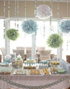 ceiling and table decor