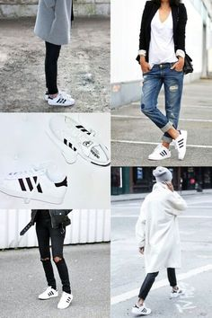 How to rock the street with adidas shoes, Adidas original superstar sneakers http://www.justtrendygirls.com/adidas-original-superstar-sneakers/