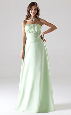Strapless Floor-length Chiffon Bridesmaid/Wedding Party Dres... – USD $ 79.99